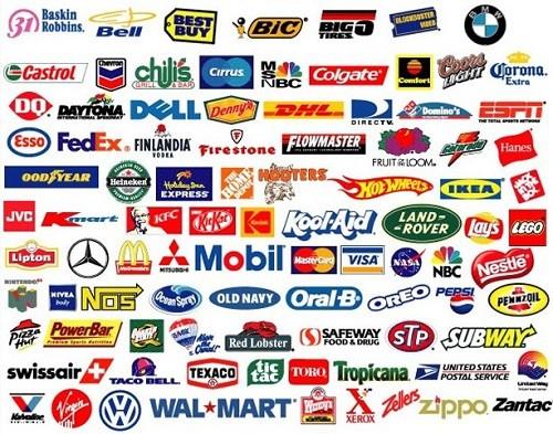 перечислить бренды